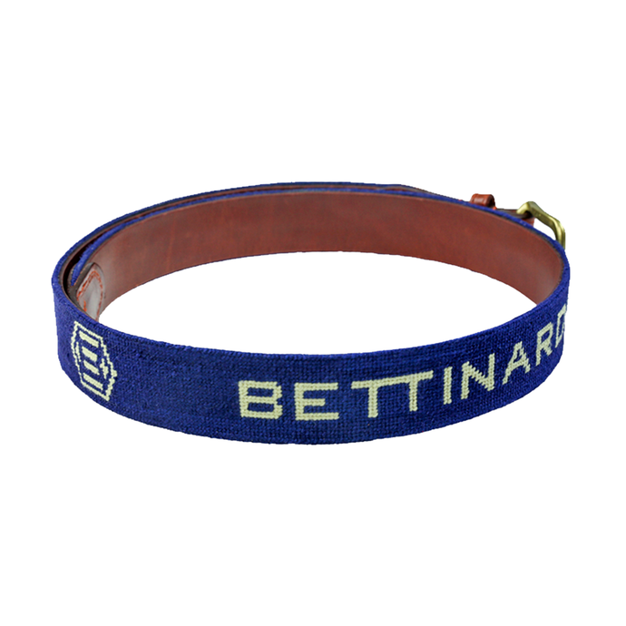 Bettinardi Navy Needlepoint Belt