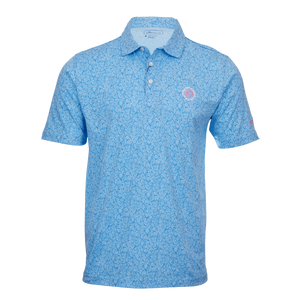 Tiki Hibiscus Hex B Performance Polo