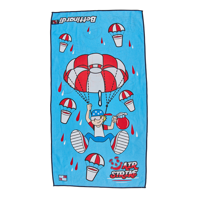 Airstrike Betti Boy Blue Razz Players Towel