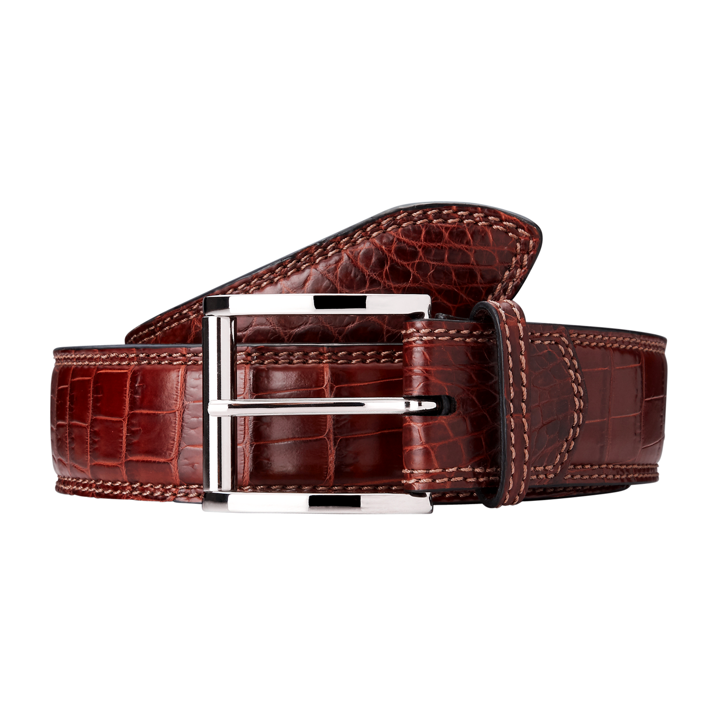 Genuine Crocodile Belt (Brown)