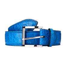 Genuine Crocodile Belt (Cobalt Blue)