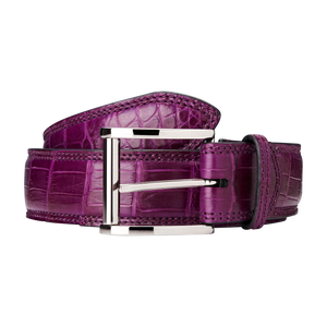 Genuine Crocodile Belt (Purple)