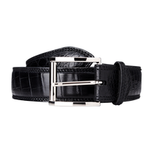 Genuine Crocodile Belt (Black)