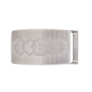 Retro Hex B Belt Buckle (Frosted)