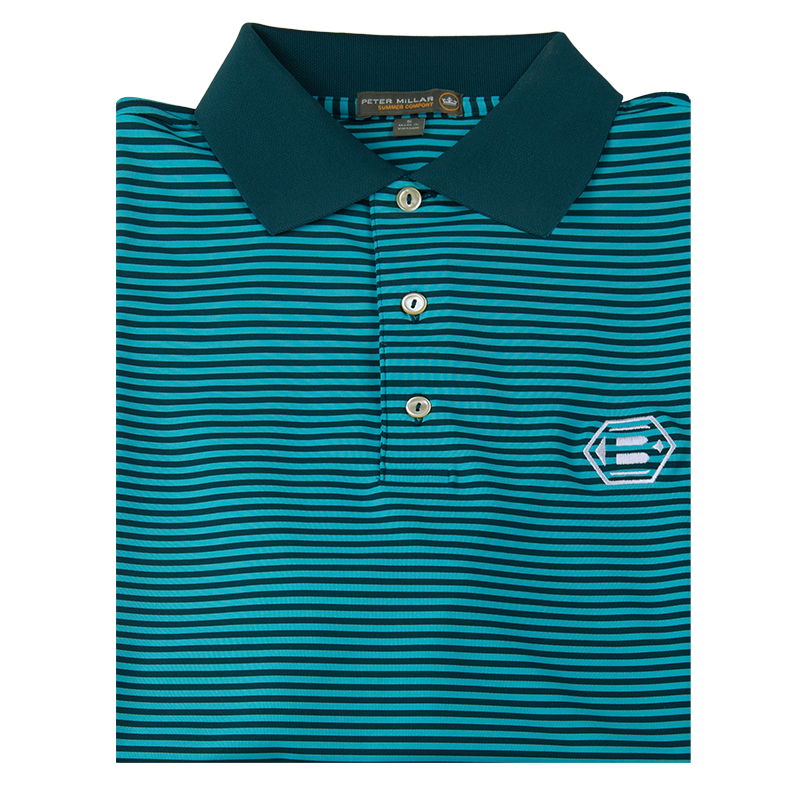 Bettinardi Competition Striped Stretch Jersey 'Crown Sport' Performance Polo - BettinardiGolf
