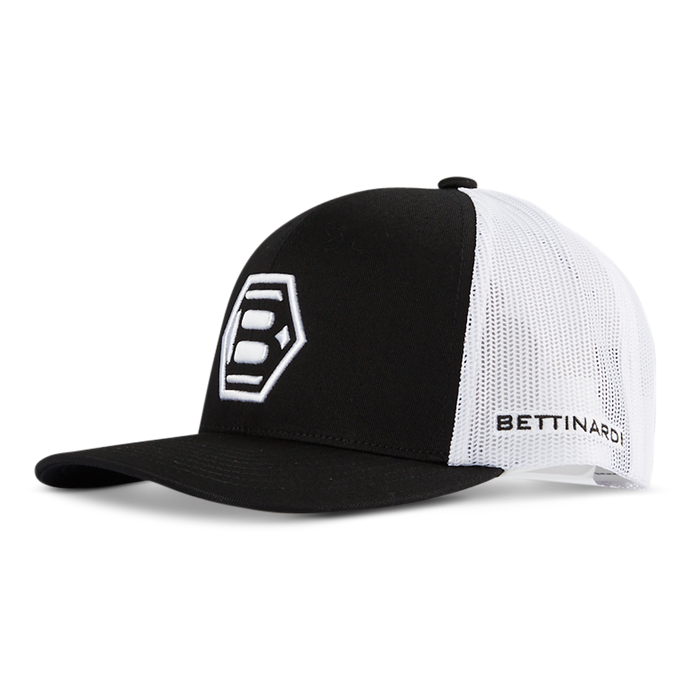 Hex B Low-Profile Trucker Cap - Black