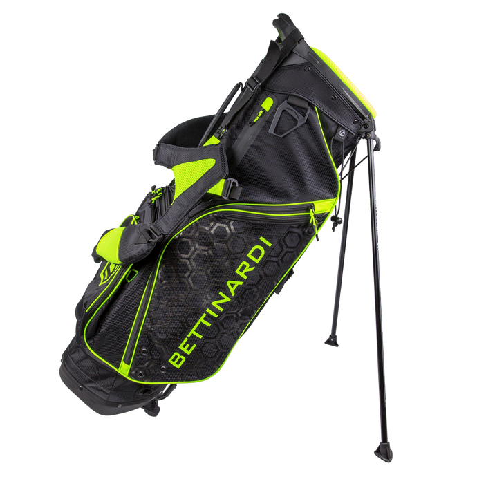 Black & Electric Yellow Stand Golf Bag
