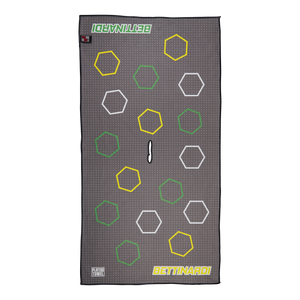 Dancing Open Hex Players Towel (Yellow/Green)