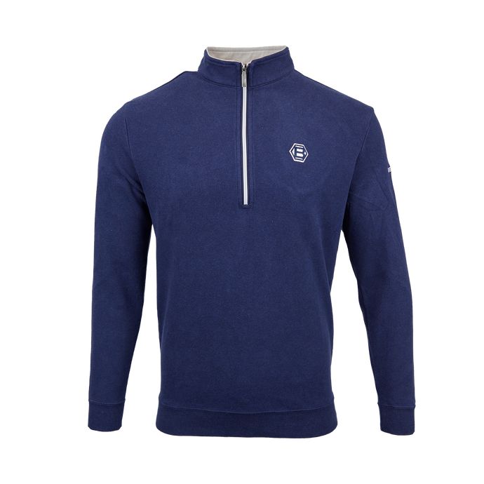 Hex B Quarter Zip Pullover (NAVY)