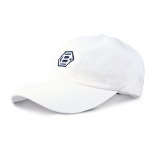White Hex B Dad Cap