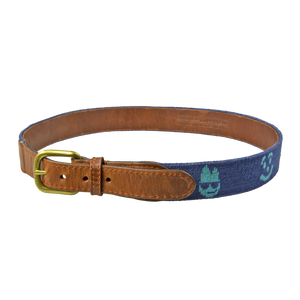 Blue Tour Only Needlepoint Belt - BettinardiGolf