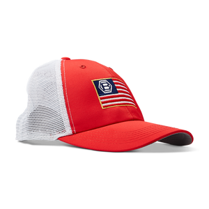 Hex B USA Performance Trucker Cap (RED)