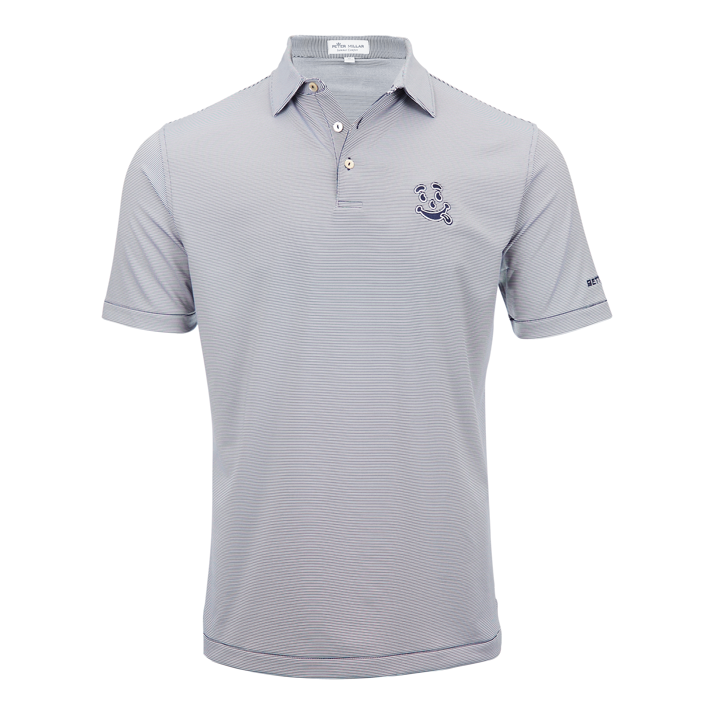 Tongue Out Performance Stripe Polo (Navy/White)