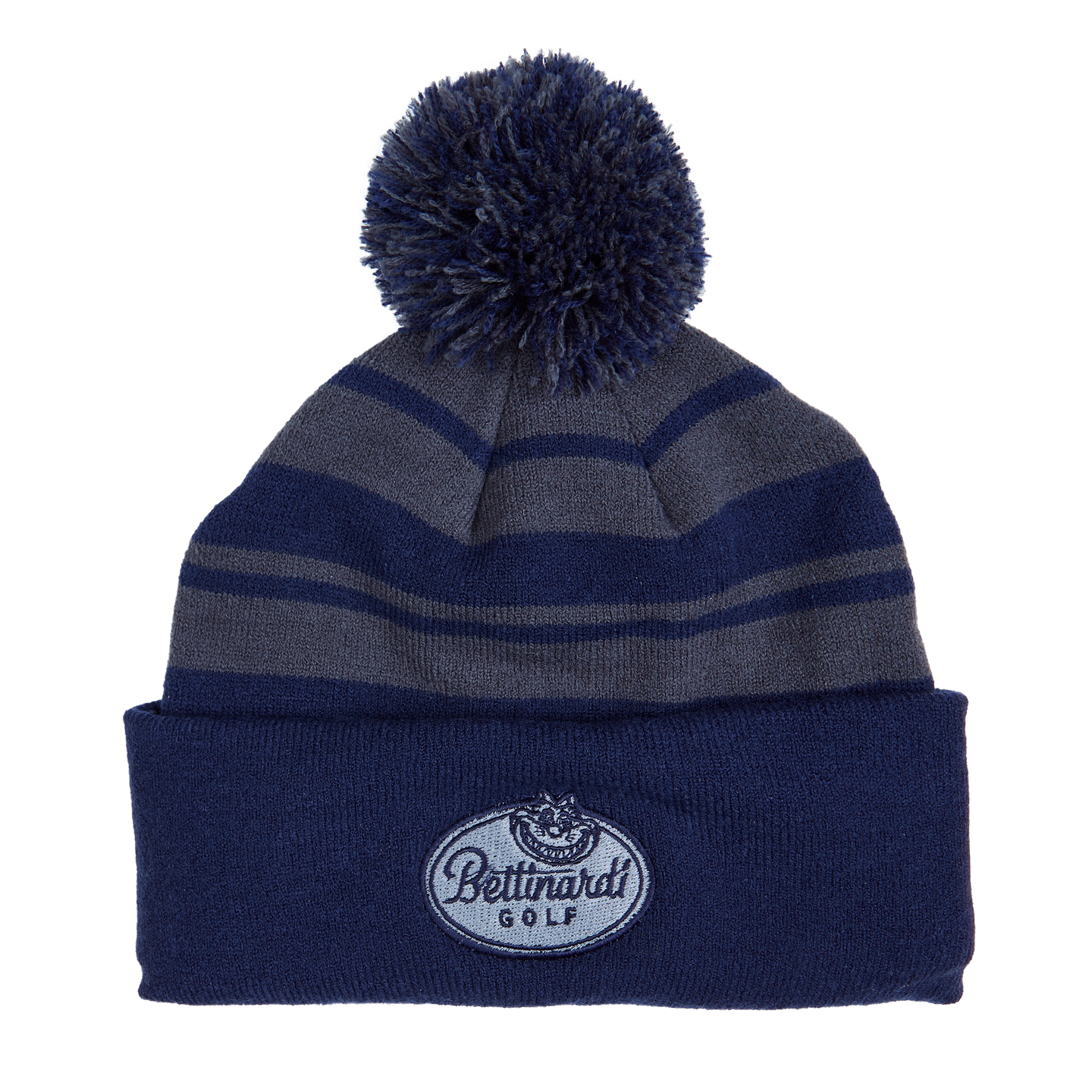 Fat Cat Striped Beanie (Navy/Grey)