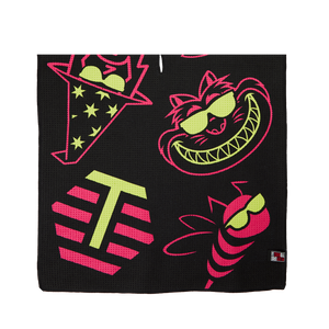 2020 PGA Show Multi-icon Players Towel (Pink/Lime)