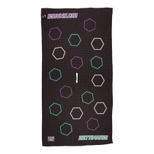 Dancing Open Hex Players Towel (Purple/Teal)