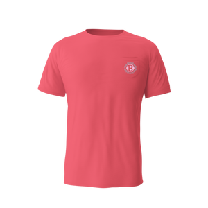 Tiki Hex B Pocket Tee (Pink)
