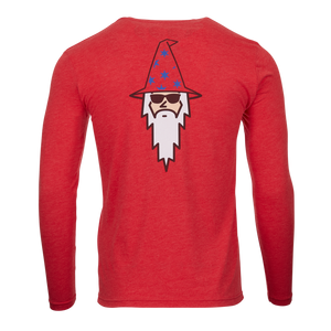 Sunglasses Wizard Retro Bettinardi Long Sleeve Tee (Red)