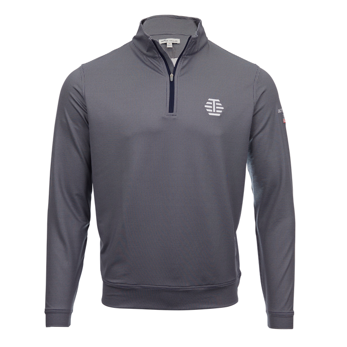 T-Hive Houndstooth Performance Pullover (Navy/Gray)