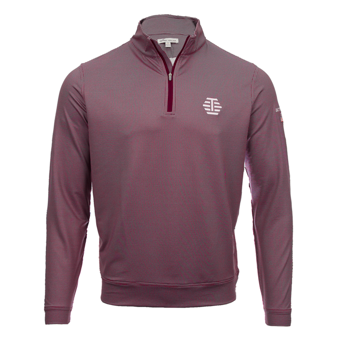 T-Hive Houndstooth Performance Pullover (Crimson/Gray)