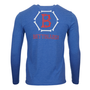 T-Hive Skull & Bones Hex B Long Sleeve Tee (Blue)