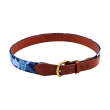 T-Hive Blue Camo Needlepoint Belt