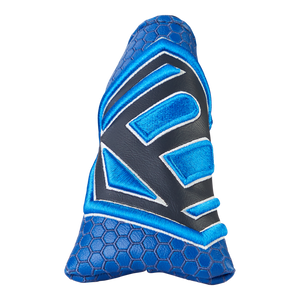 Jumbo Hex B Leather Headcover (Blue)