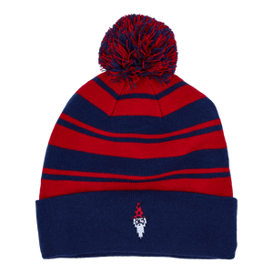 Windy City Wizard Beanie (Navy/Red)