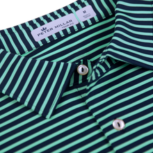 Bettinardi Stripe 'Tour Fit' Performance Polo (Green/Navy)