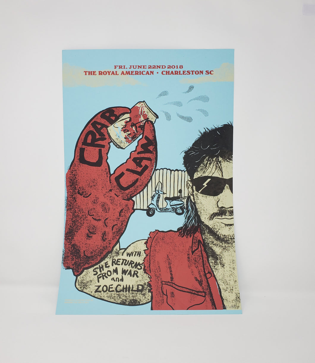 CRAB CLAW, live at the Royal American 2018 Poster