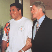 Muhammad Ali with Bill Clinton (walking)
