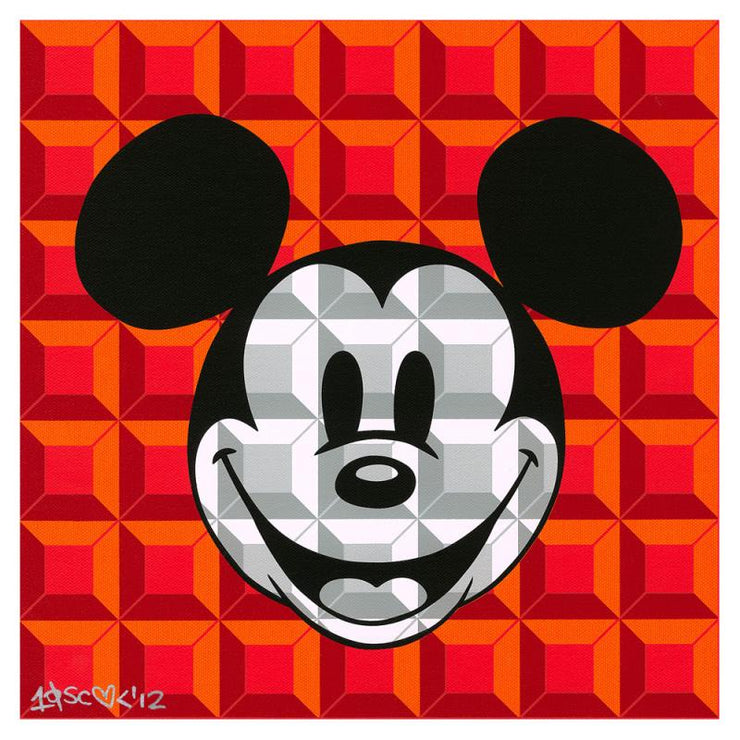 8-Bit Block Mickey (Red)