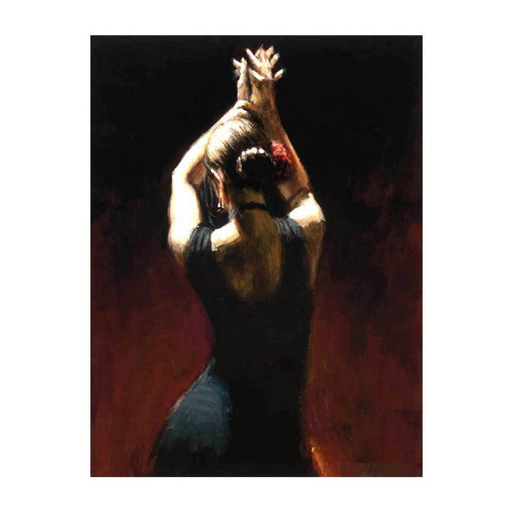 Flamenco Dancer in Black Dress