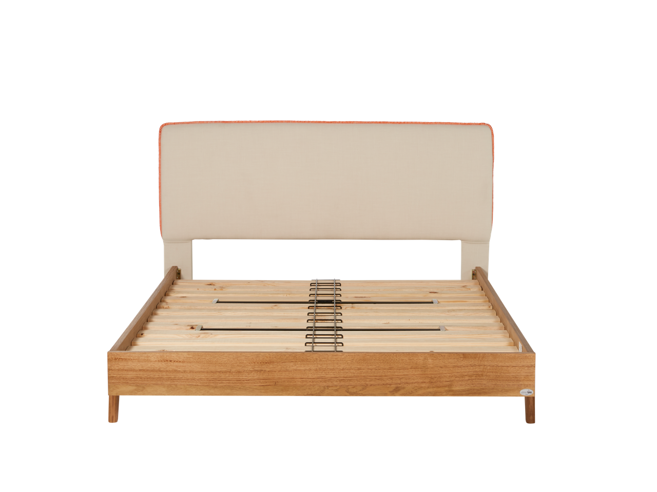 Dane Bed Frame With Upholstered Headboard Timber Base Snooze