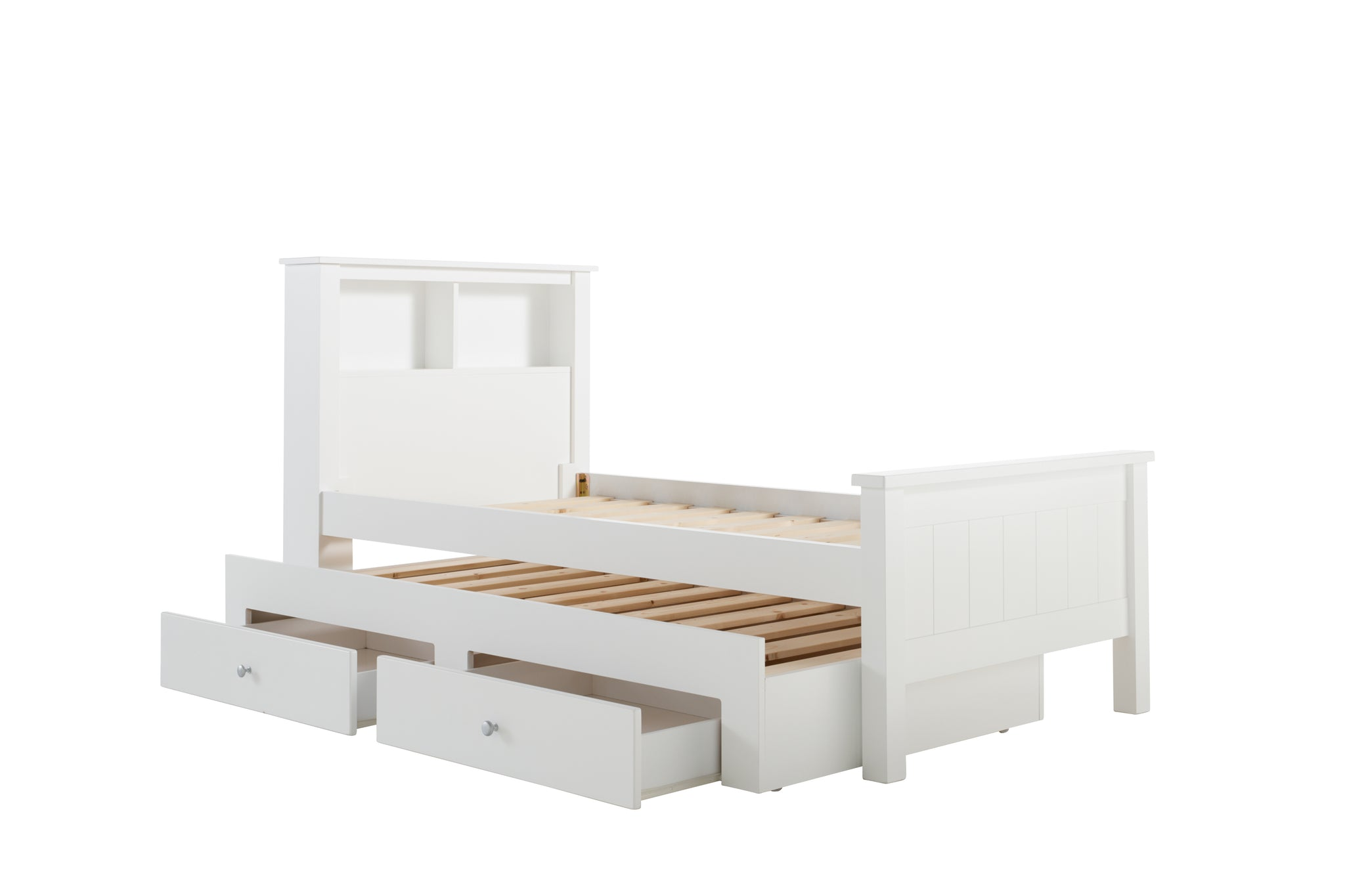 new arrival 71aae b65ee Polo Bed Frame (Featured Headboard) With Storage Trundle