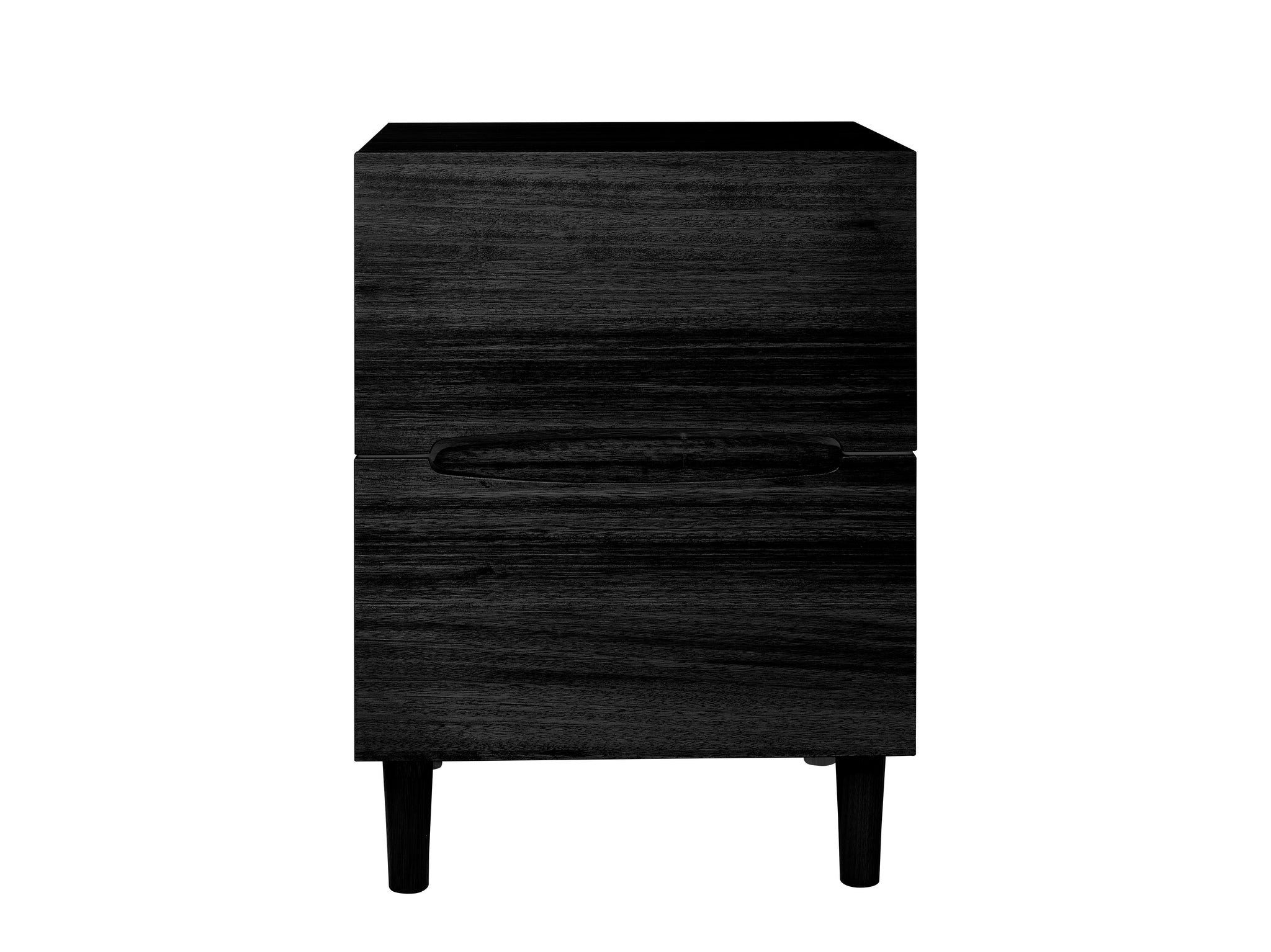 My Design Narrow Bedside Table With Ellipse Cut Out Handle Spindle L Snooze