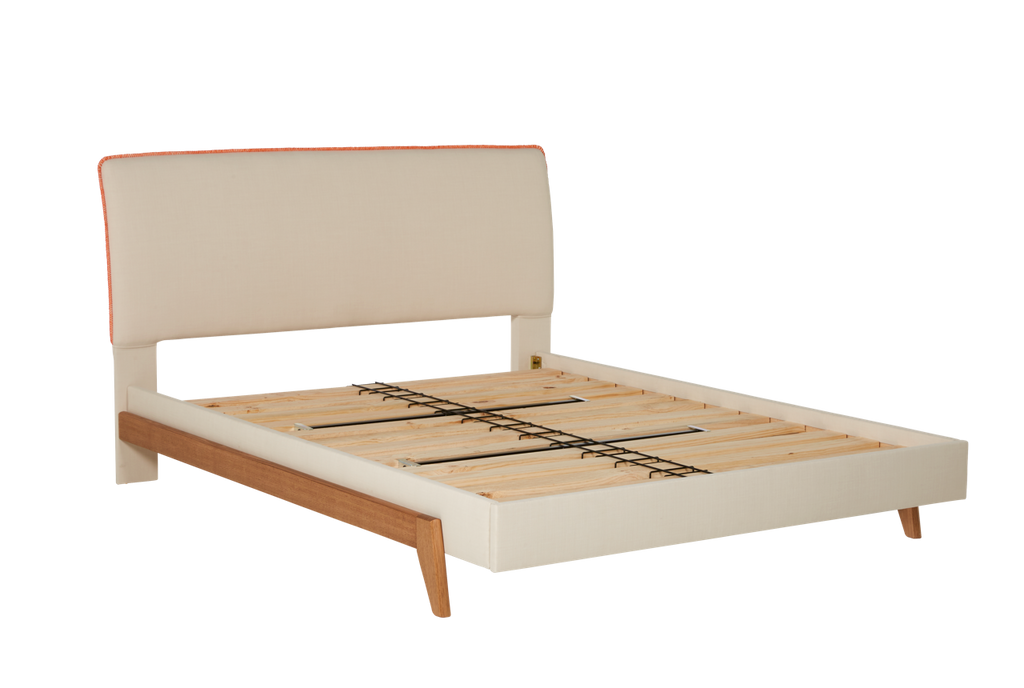 Dane Bed Frame with Upholstered Headboard & Base – Snooze