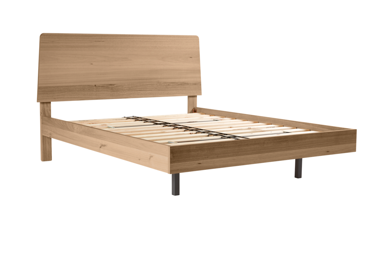 My Design Bed Frame (tapered headboard & floating base) – Snooze
