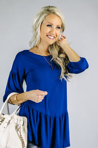 Bubble Sleeve Peplum | 7 Colors