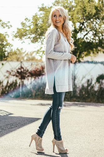 Boyfriend Long Sleeve Terry Tunic | 16 Colors