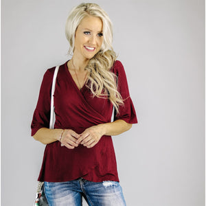 Carmen Ruffle Top | 14 Colors