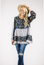 Colorblock Mixed Print Blouse | 2 Colors