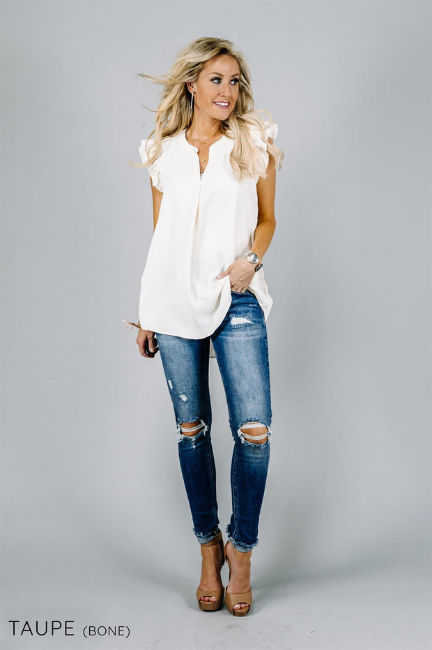 Aniston Ruffle Blouse | 25 Colors