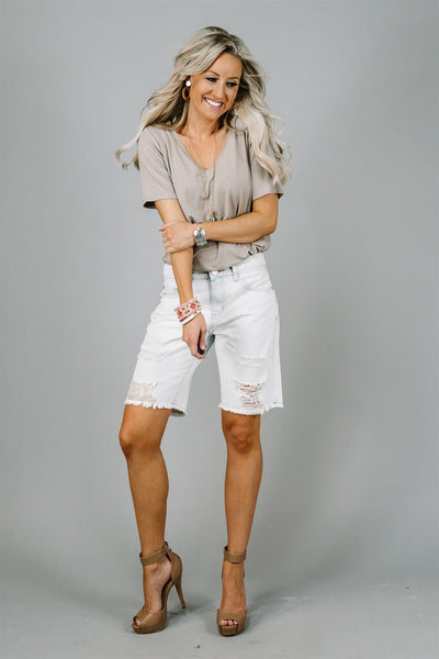 Boyfriend Bermuda Shorts | 2 Colors