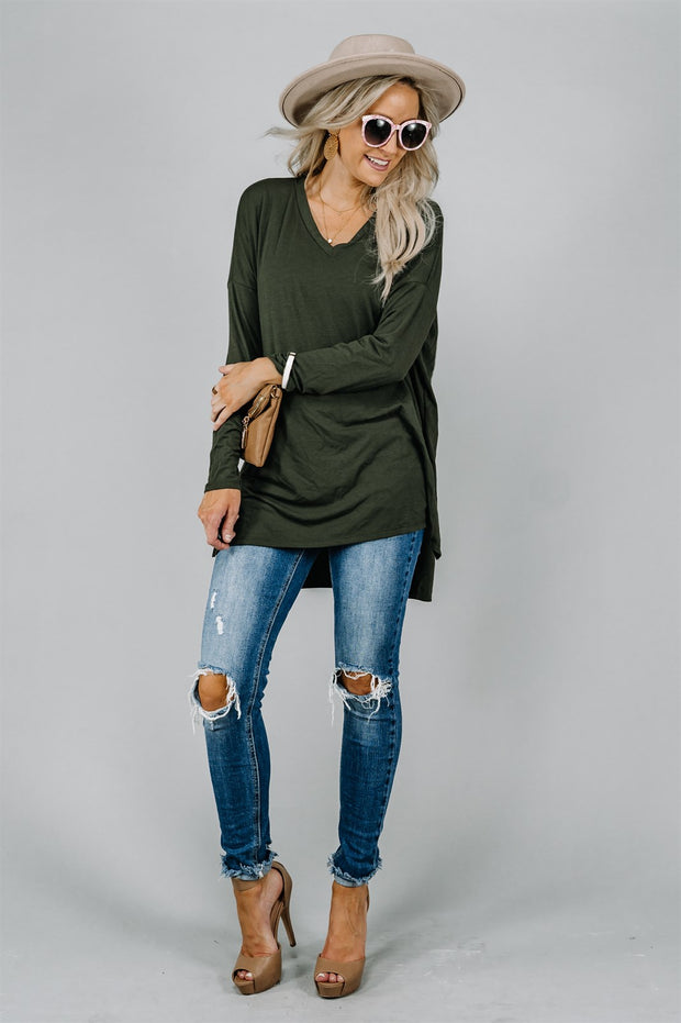 Boyfriend Hi-Low Dolman | 22 Colors