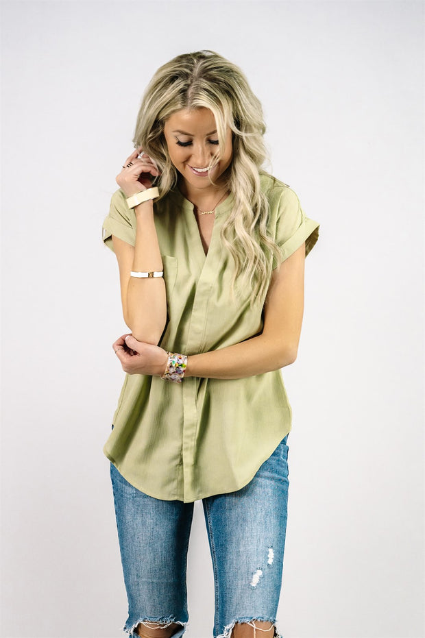 Chiffon Tab Top | 3 Colors