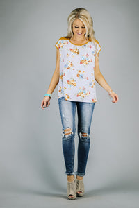 Contrast Bouquet Tunic