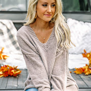 Chenille Boyfriend Sweater | Light Gray