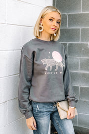 Keep It Wild Pullover | Slate Gray
