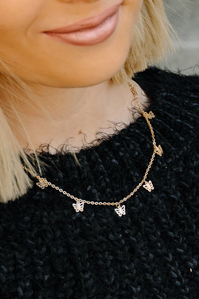 Elegant Flight Charm Necklace